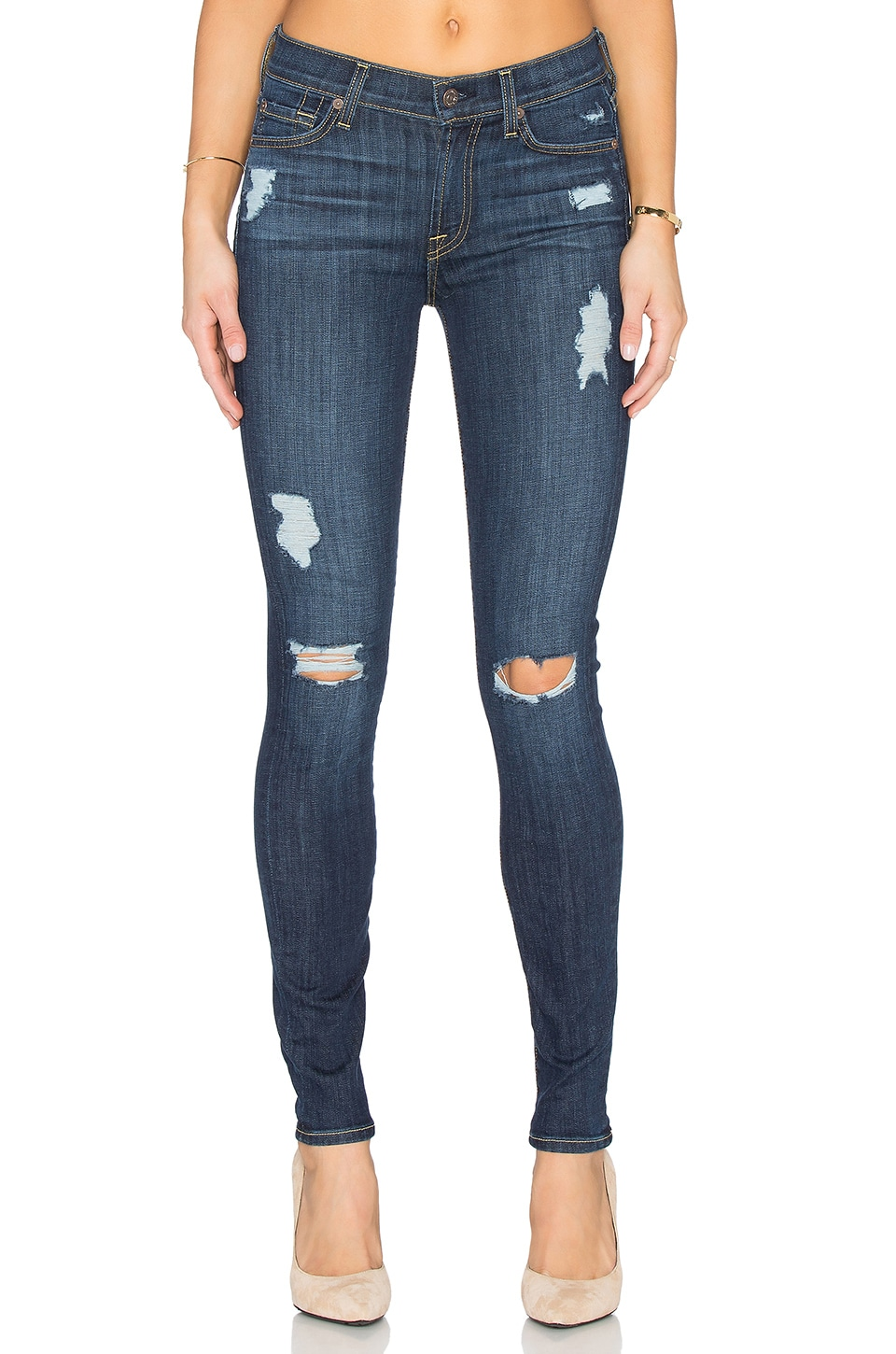 7 For All Mankind The Destroy Skinny in Nouveau Destroy