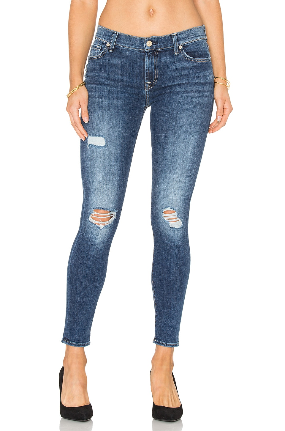 The Distressed Ankle Skinny by 7 For All Mankind