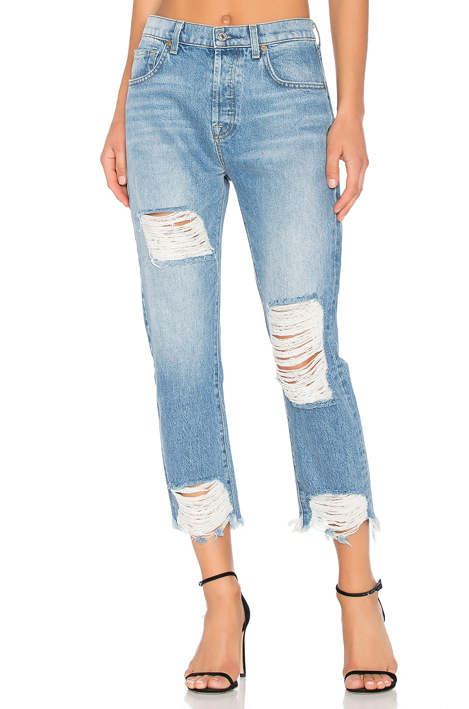 7 For All Mankind High Waisted Josefina in Vintage Wythe 2