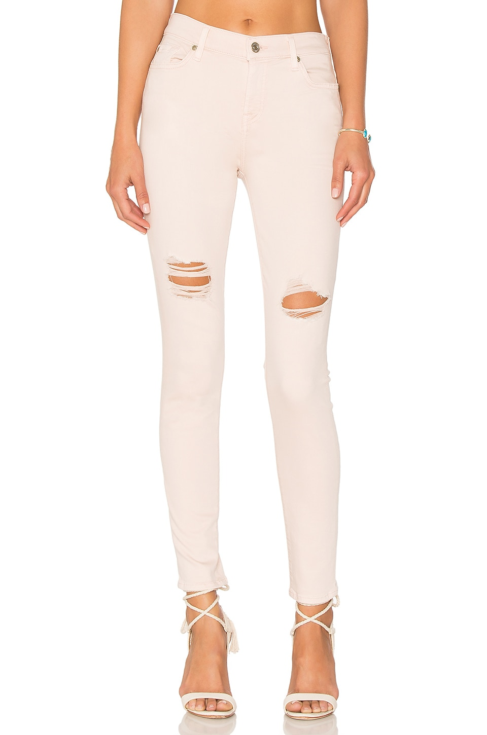 7 For All Mankind Ankle Skinny in Peony