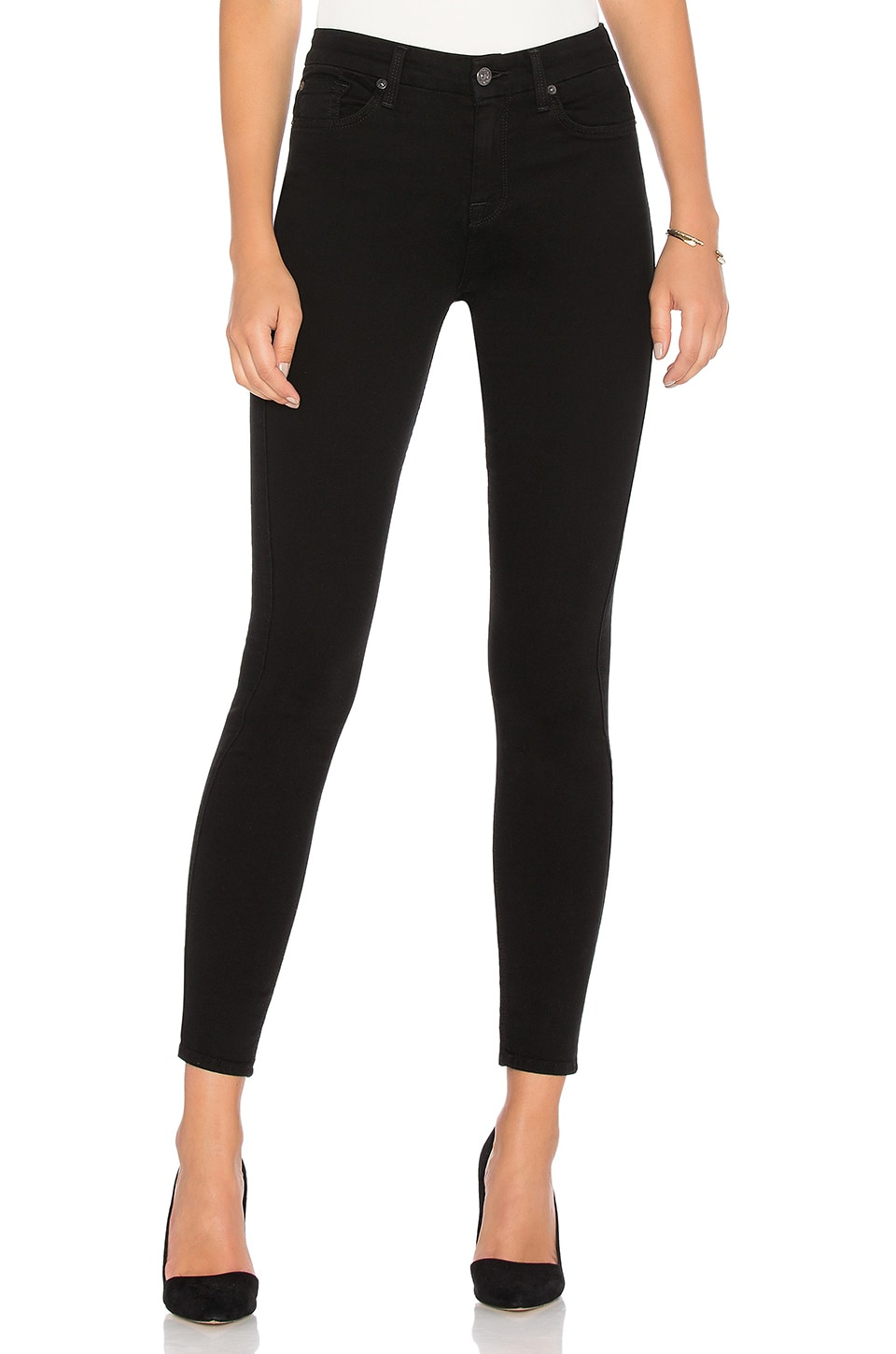 7 For All Mankind The HW Skinny in B(air) Black