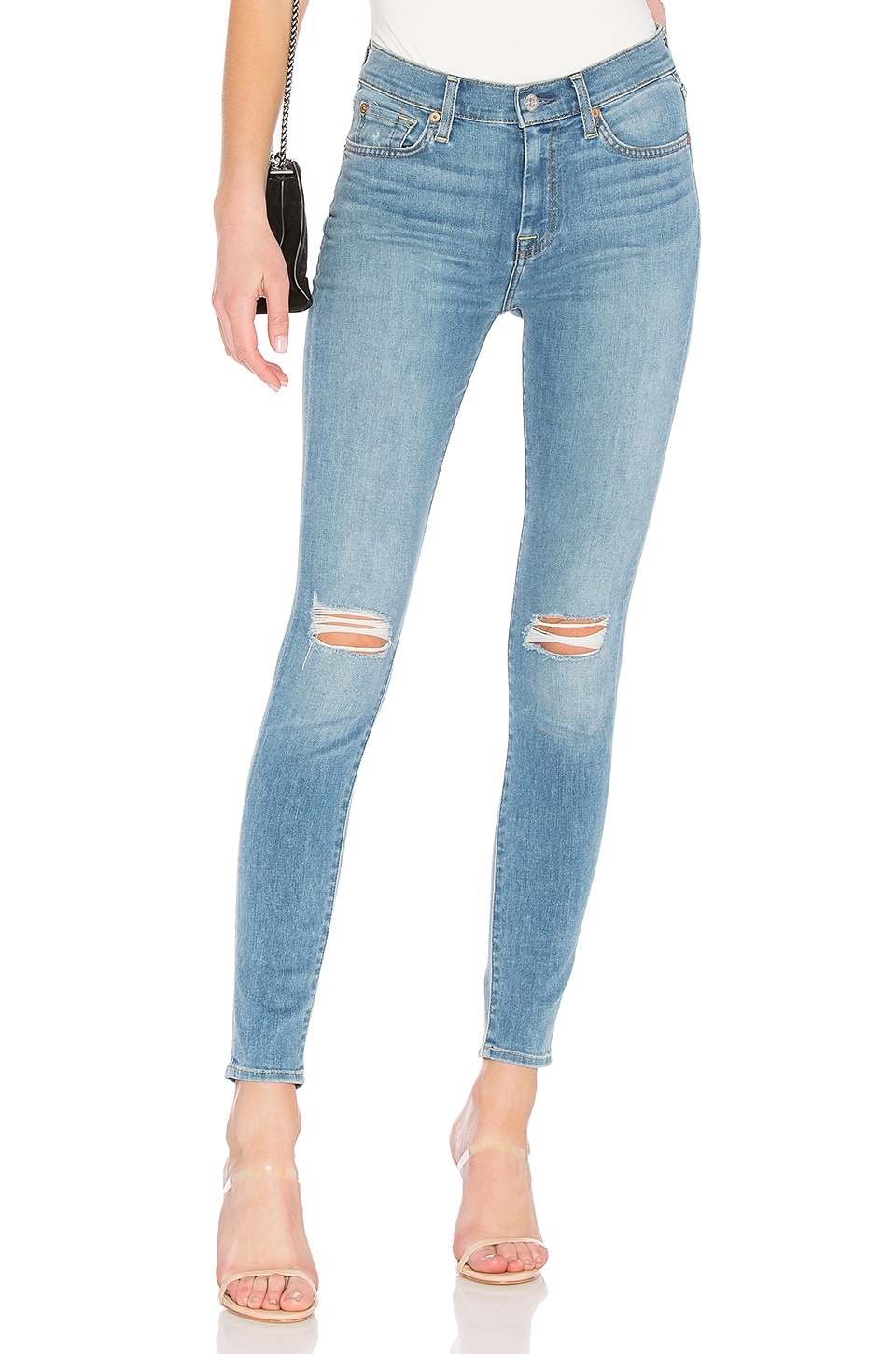 7 For All Mankind HW Skinny Jean in Bright Palms 2