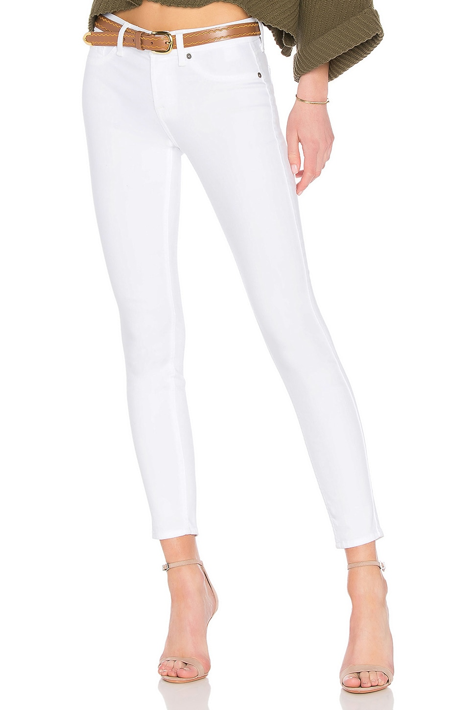7 For All Mankind Ankle Skinny Jean in Clean White