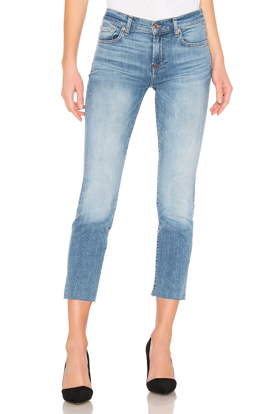 7 For All Mankind Roxanne Ankle in Light Classic