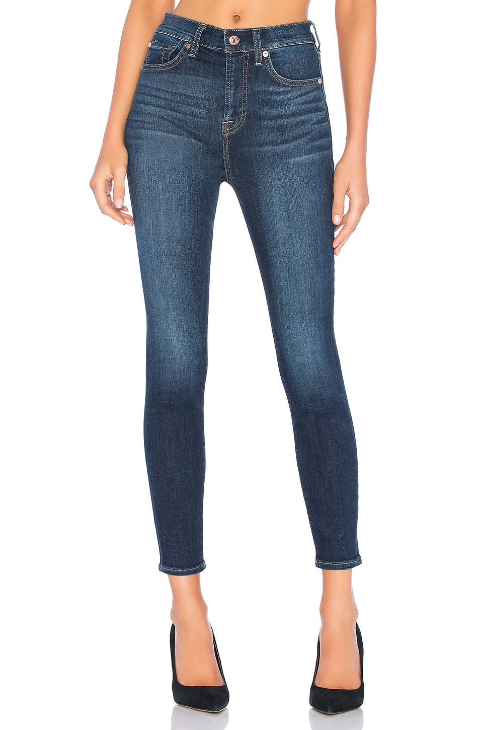 7 For All Mankind Aubrey Skinny in B(air) Authentic Fate