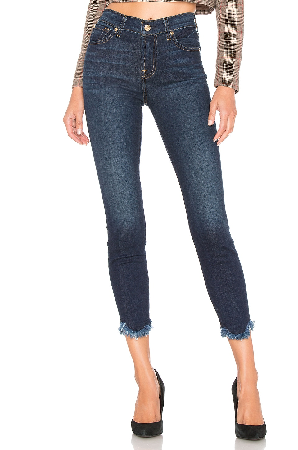7 For All Mankind Ankle Skinny in Midnight Moon