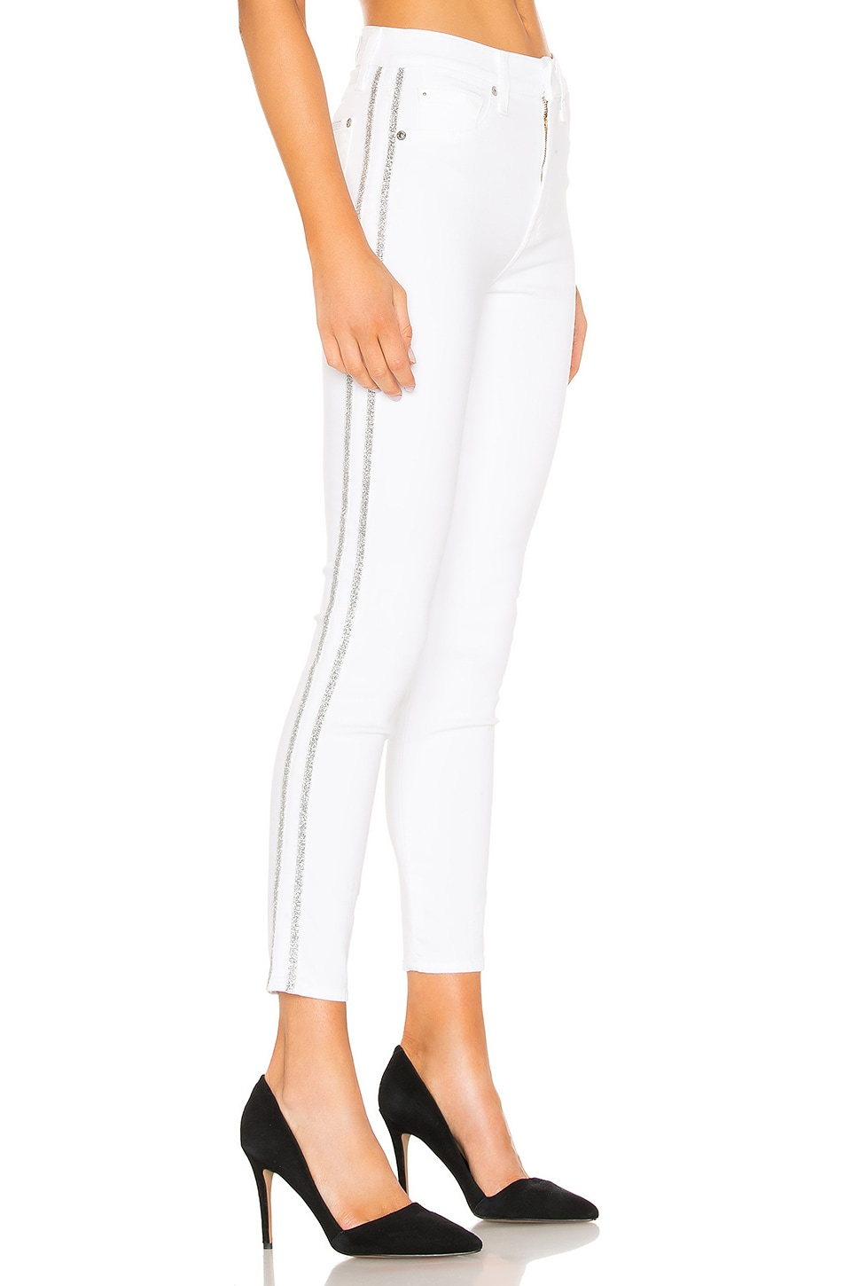 7 For All Mankind High Waisted Ankle Skinny in White Fashion