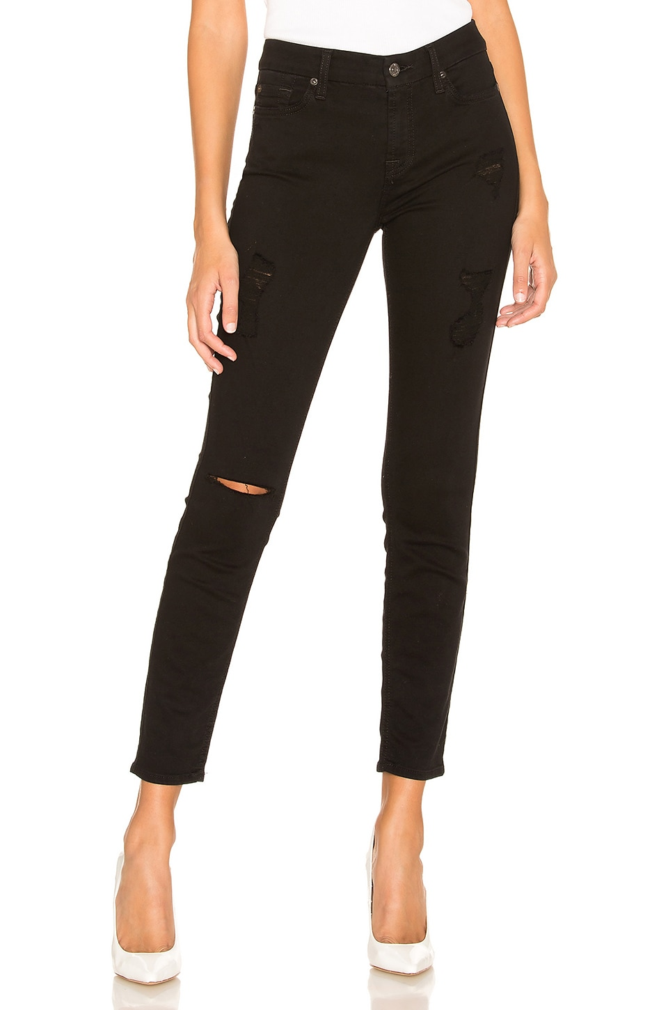 7 For All Mankind Ankle Skinny in Black
