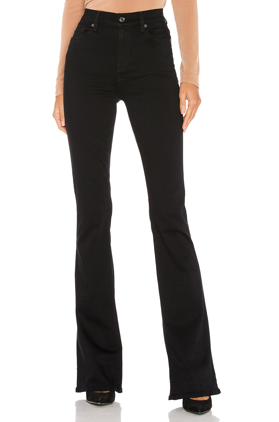 7 For All Mankind High Waist Ali Bootcut in Slim Illusion Luxe Black