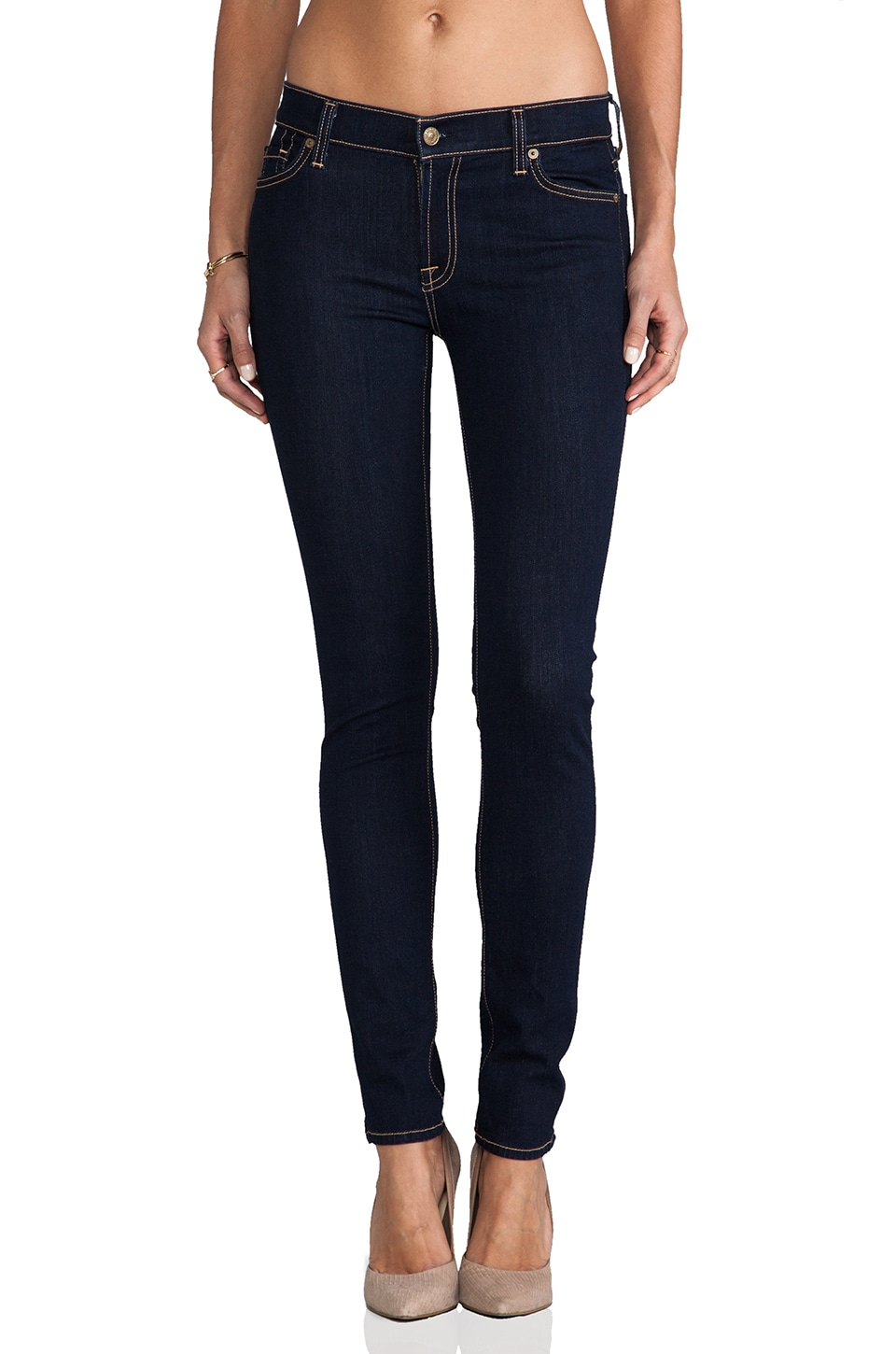 7 For All Mankind The Skinny in Rinsed Indigo