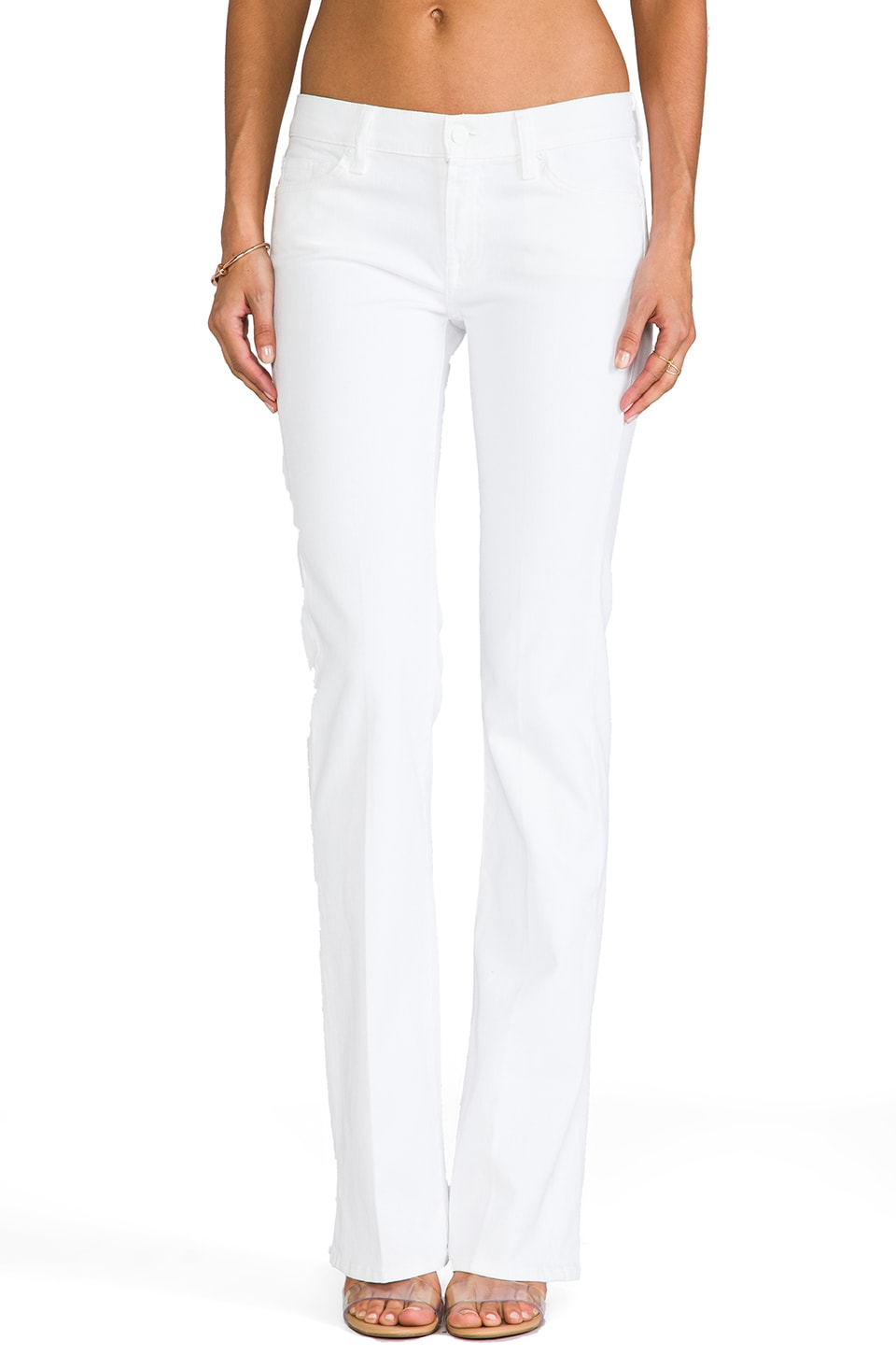 7 For All Mankind Bootcut in Clean White