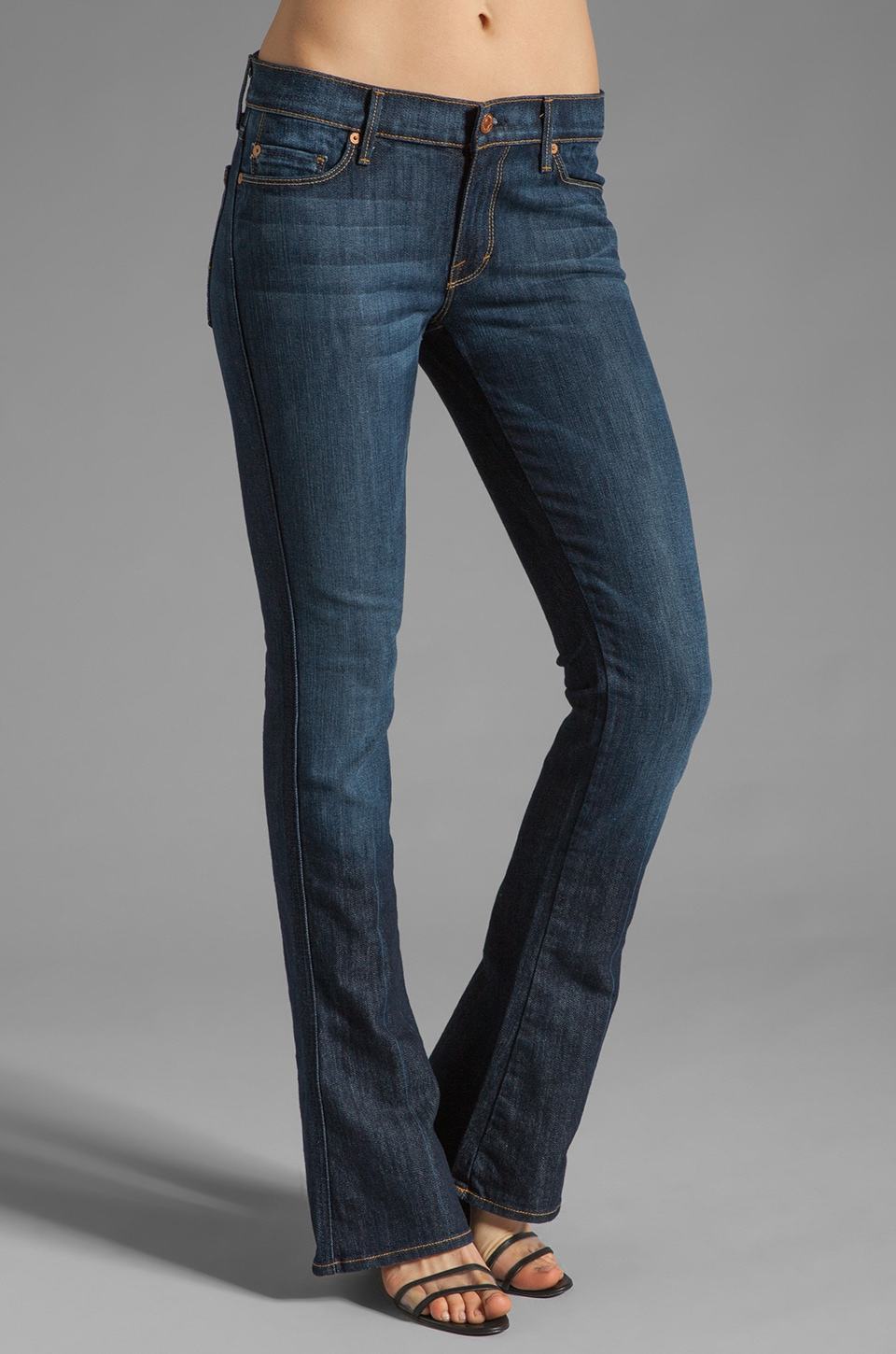 7 For All Mankind Kaylie in Midnight New York Dark