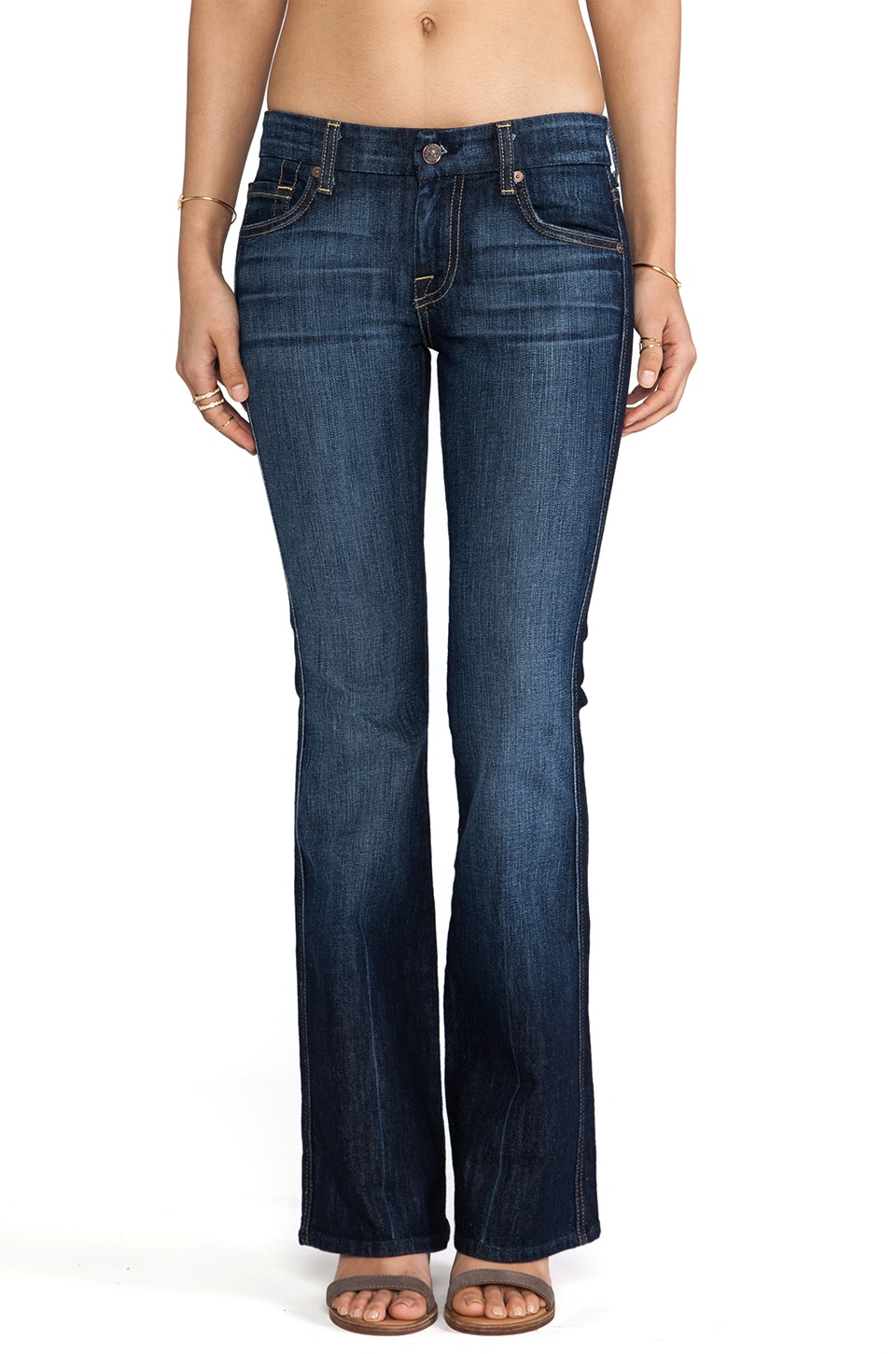 7 For All Mankind Jean Bootcut petites poches brodées