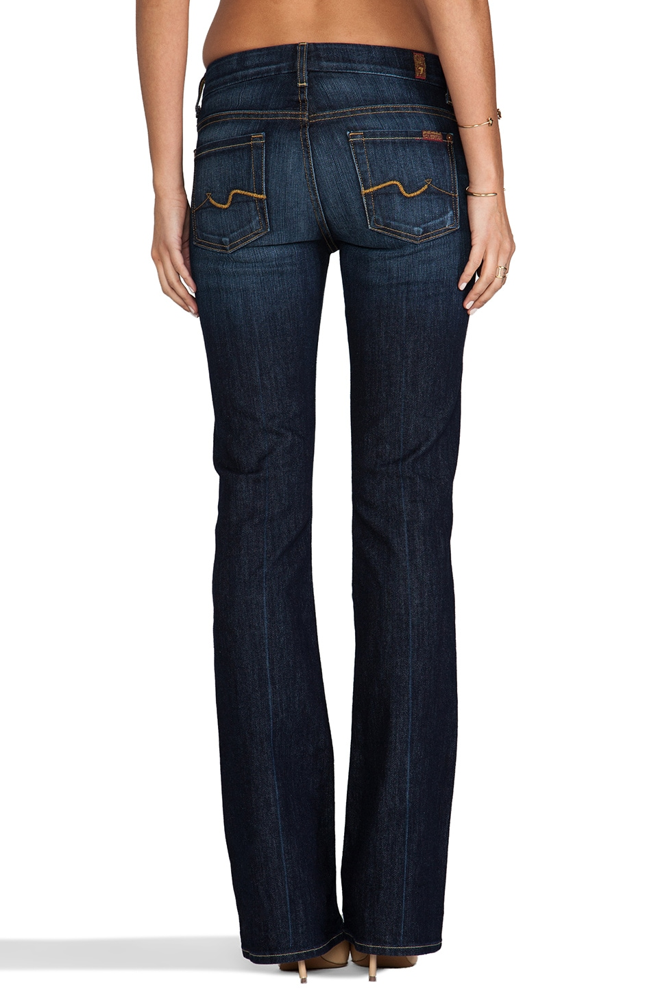 7 For All Mankind Jean Kimmie Bootcut en Midnight New York Dark