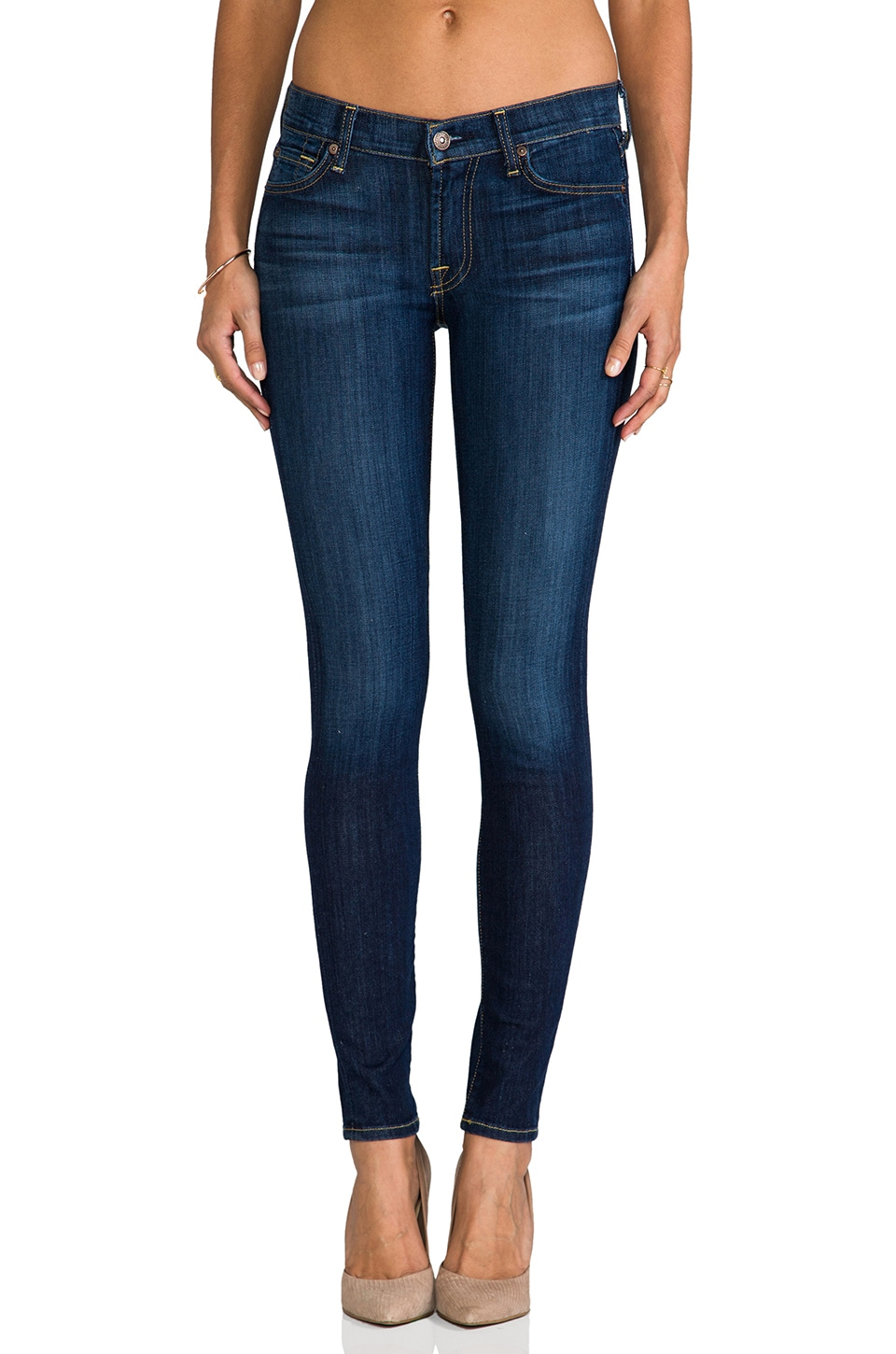 7 For All Mankind The Skinny in Nouveau New York Dark | REVOLVE