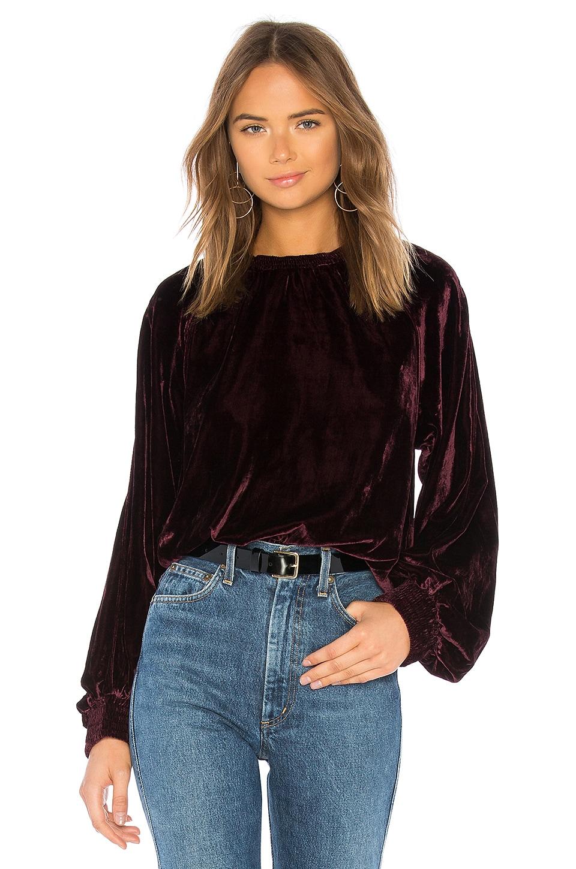 Velvet Pullover Sweatshirt