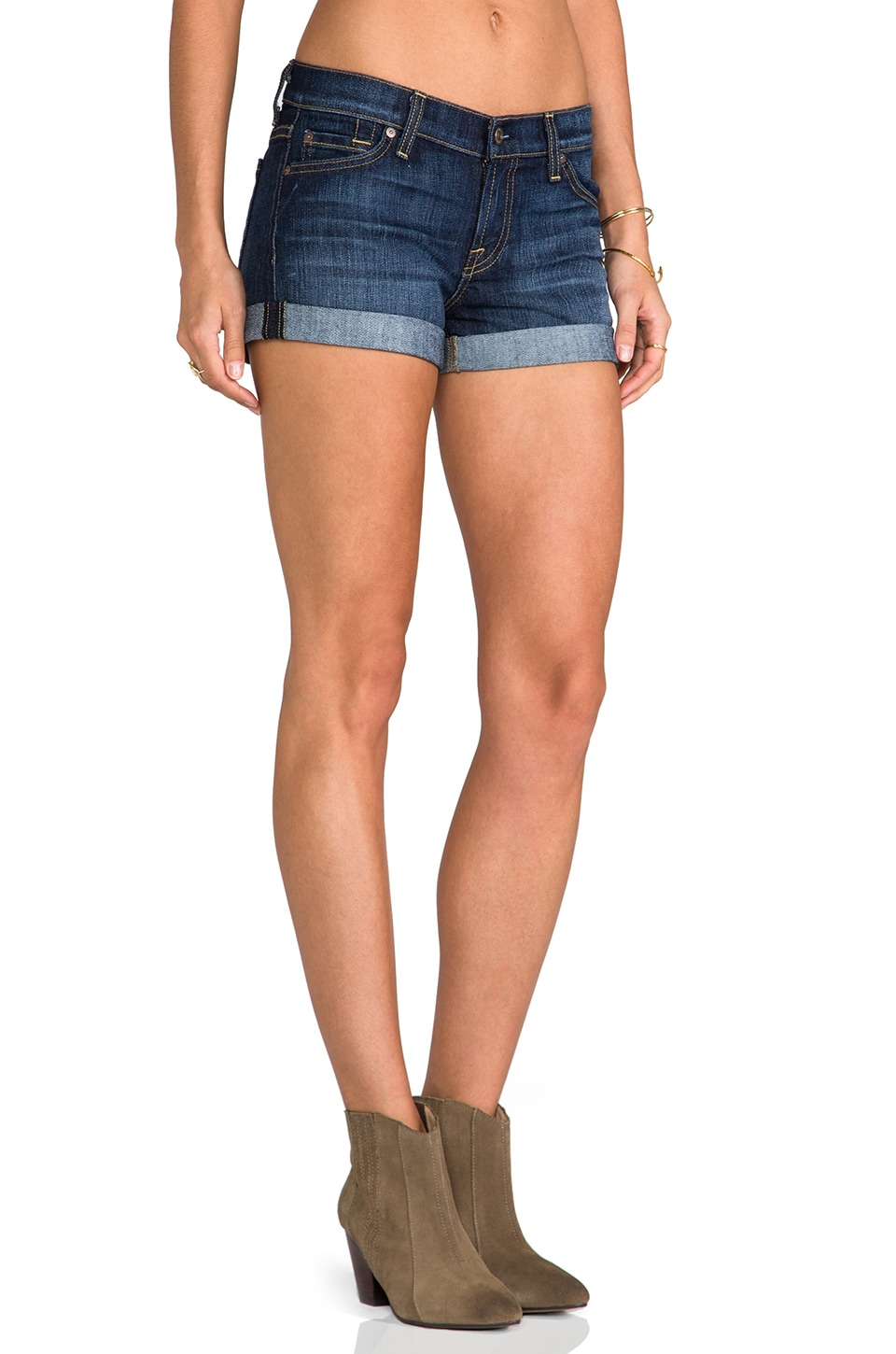 7 For All Mankind Roll Up Short in Nouveau New York Dark