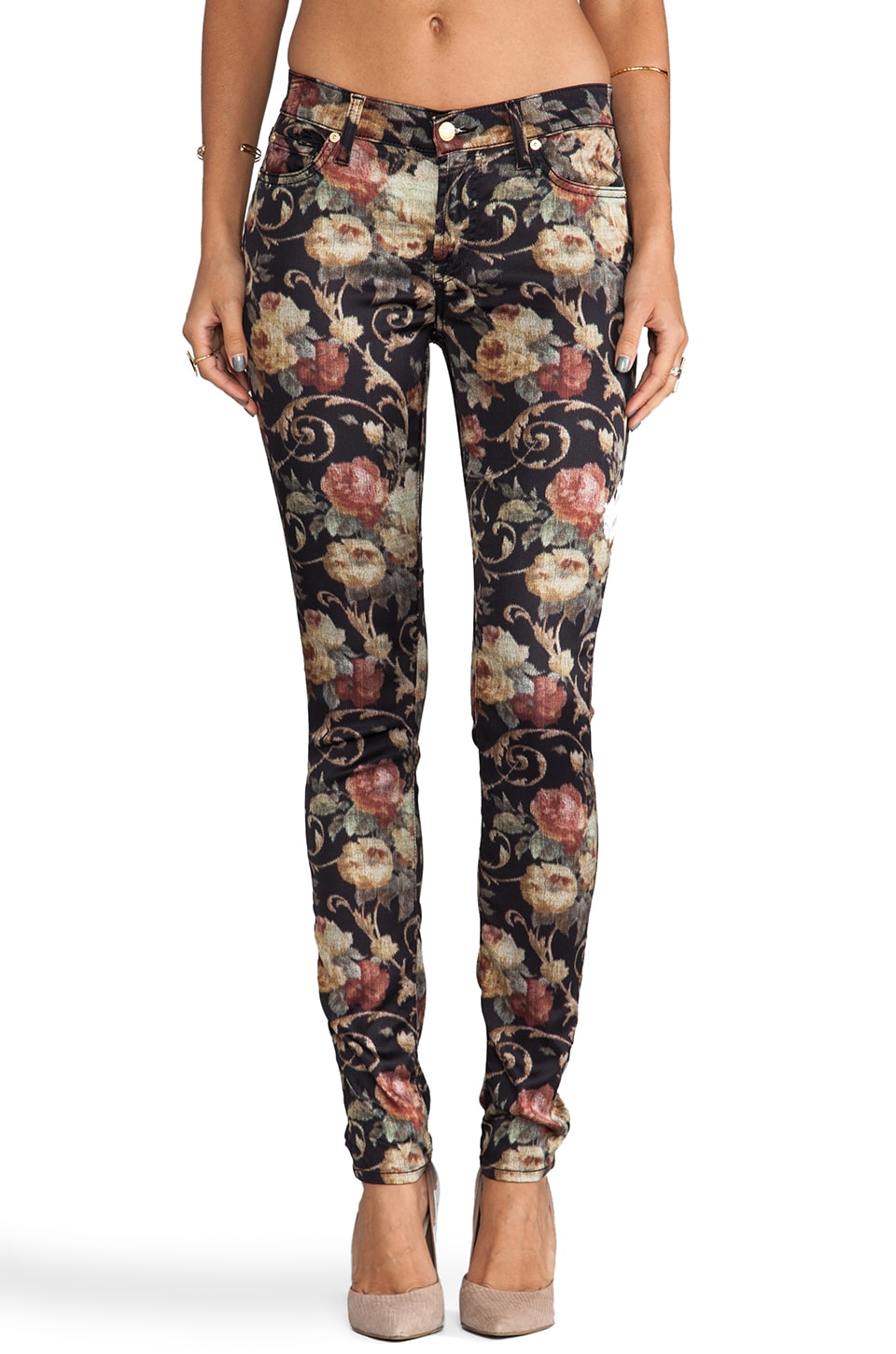 7 For All Mankind The Skinny in Floral Chintz
