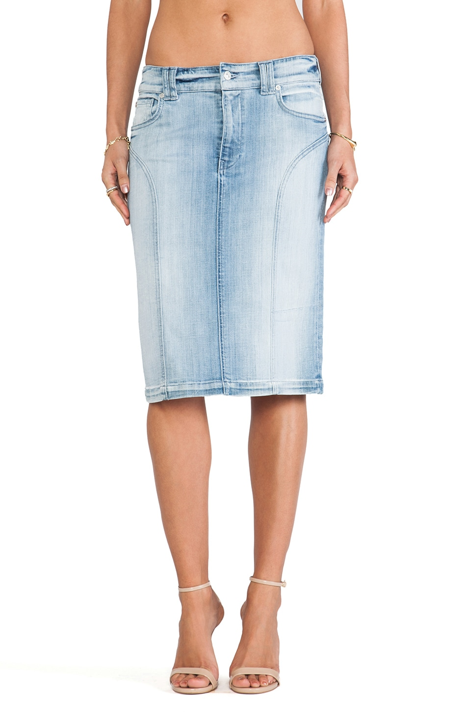 7 For All Mankind JUPE CRAYON TAILLE HAUTE
