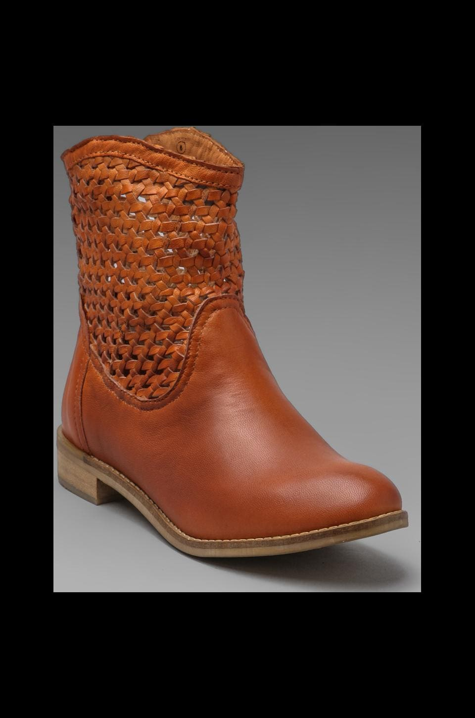 Seychelles Knock at the Door Bootie in Cognac
