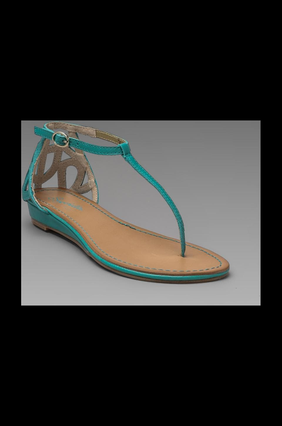Seychelles Fearless Sandal in Sea Green