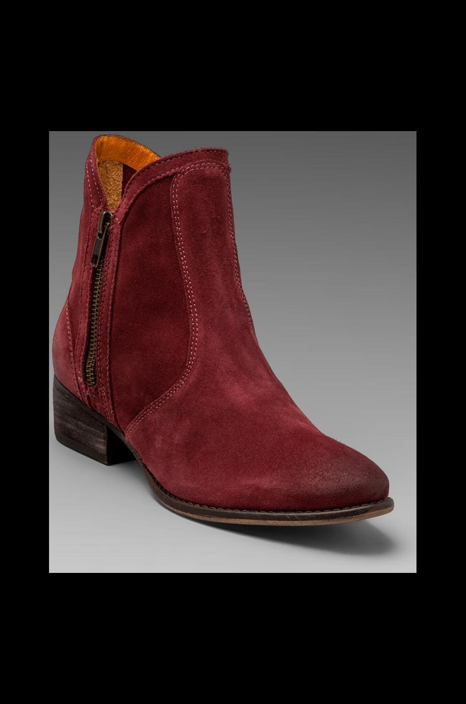 Seychelles Lucky Penny Bootie in Burgundy Suede