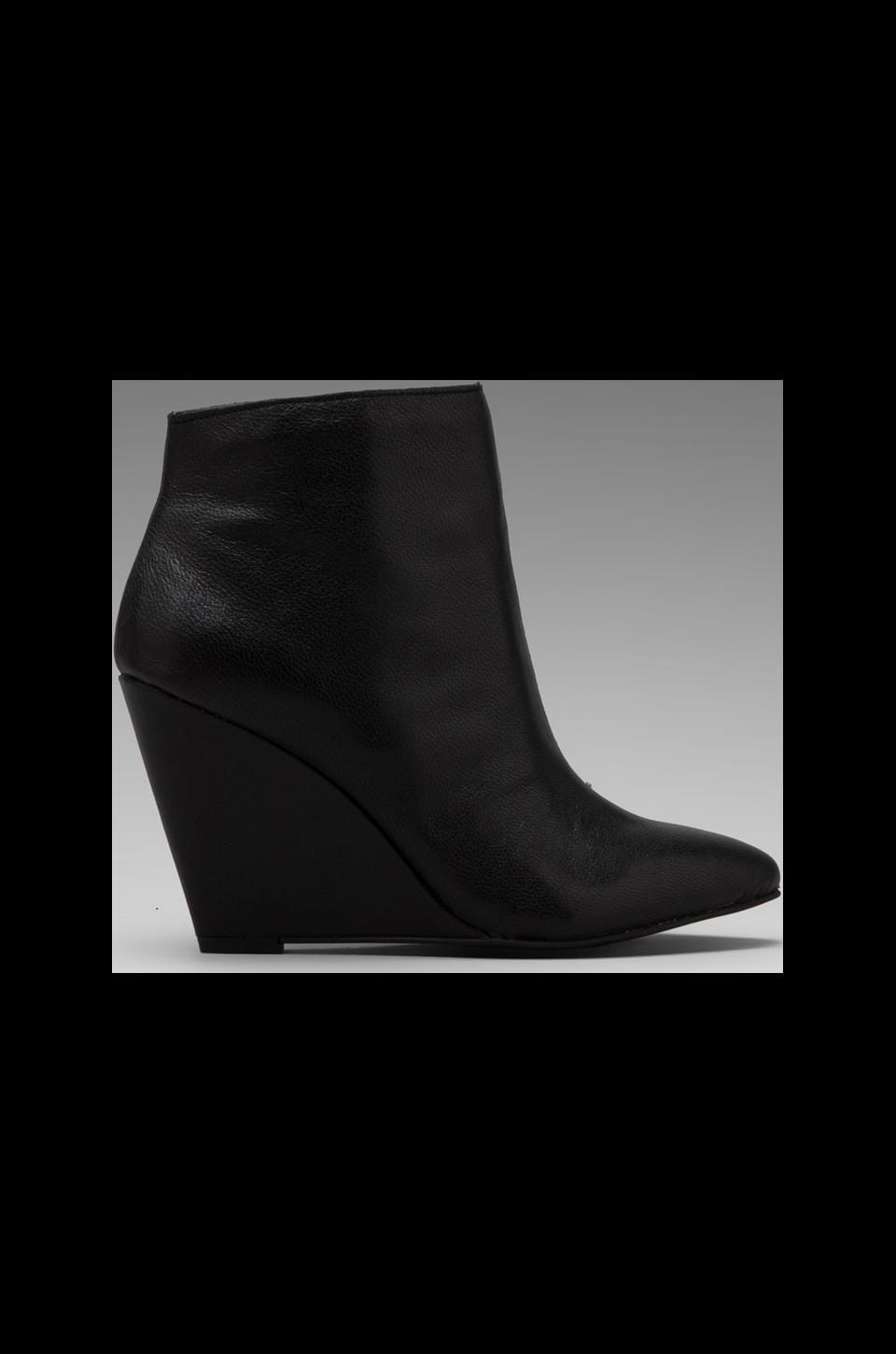 Seychelles Turn Up The Heat Bootie in Black Leather