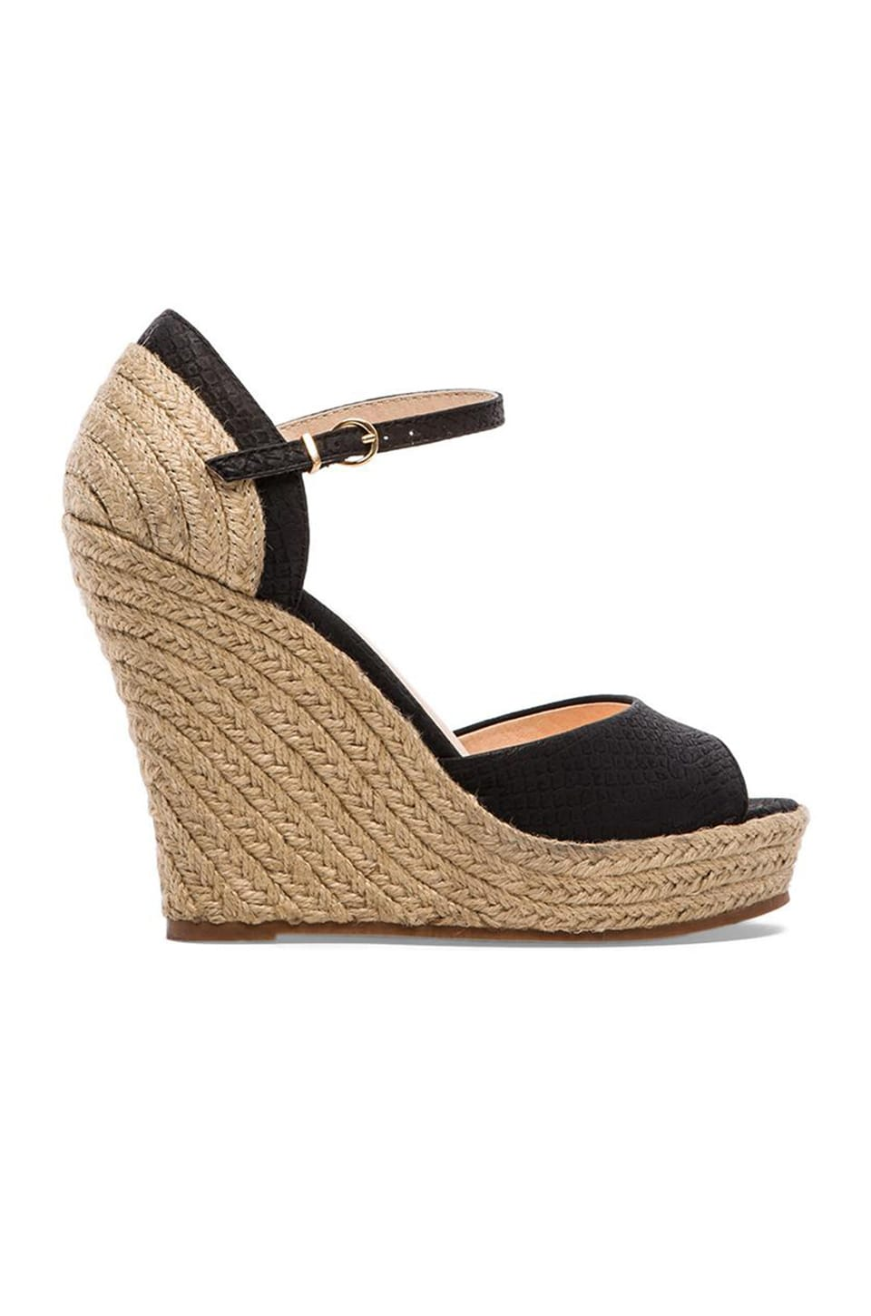 Seychelles Catch Your Breath Wedge in Black