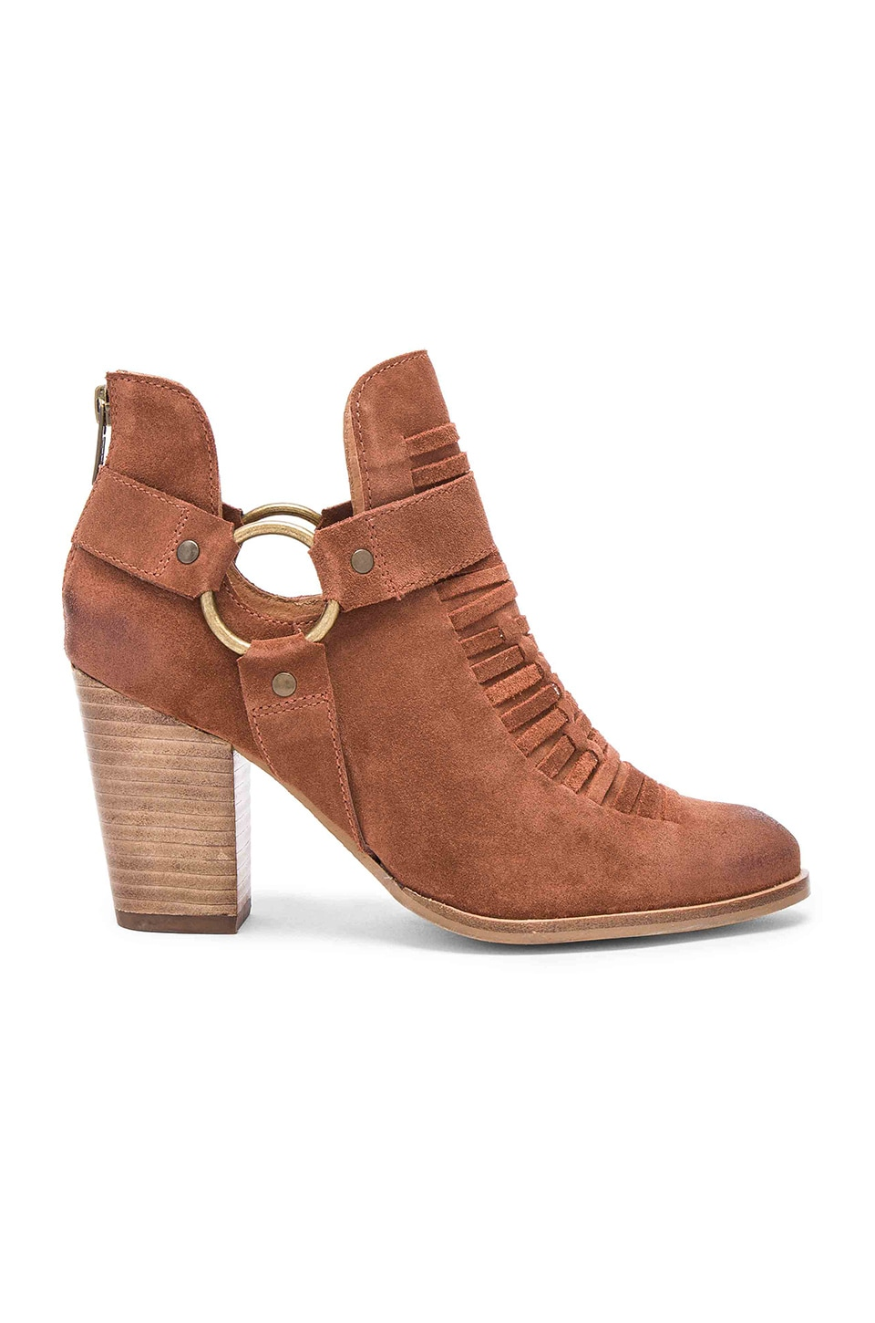 Seychelles Impossible Booties in Cognac Suede