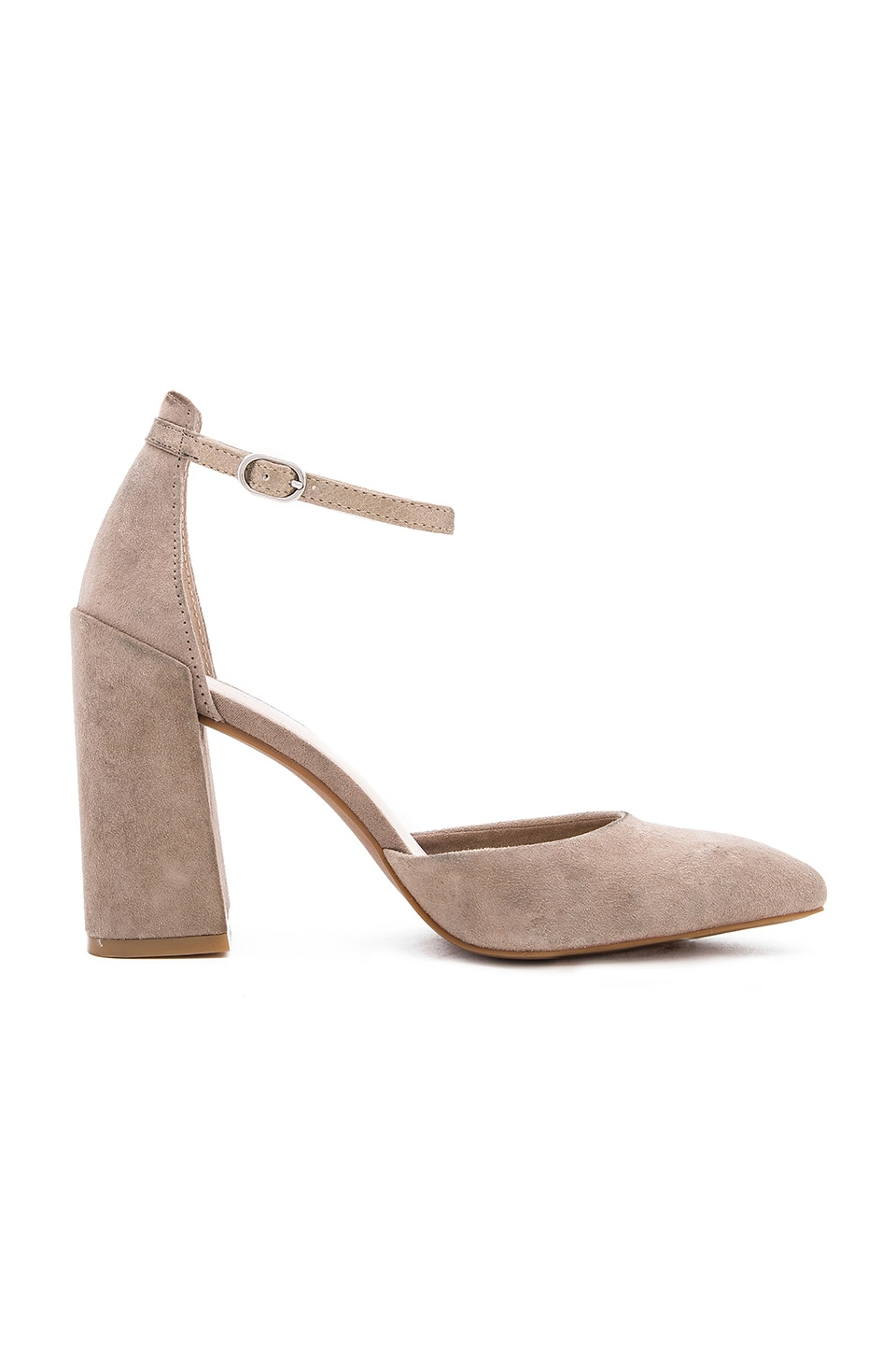 Seychelles Gaggle Heels in Taupe & Platinum