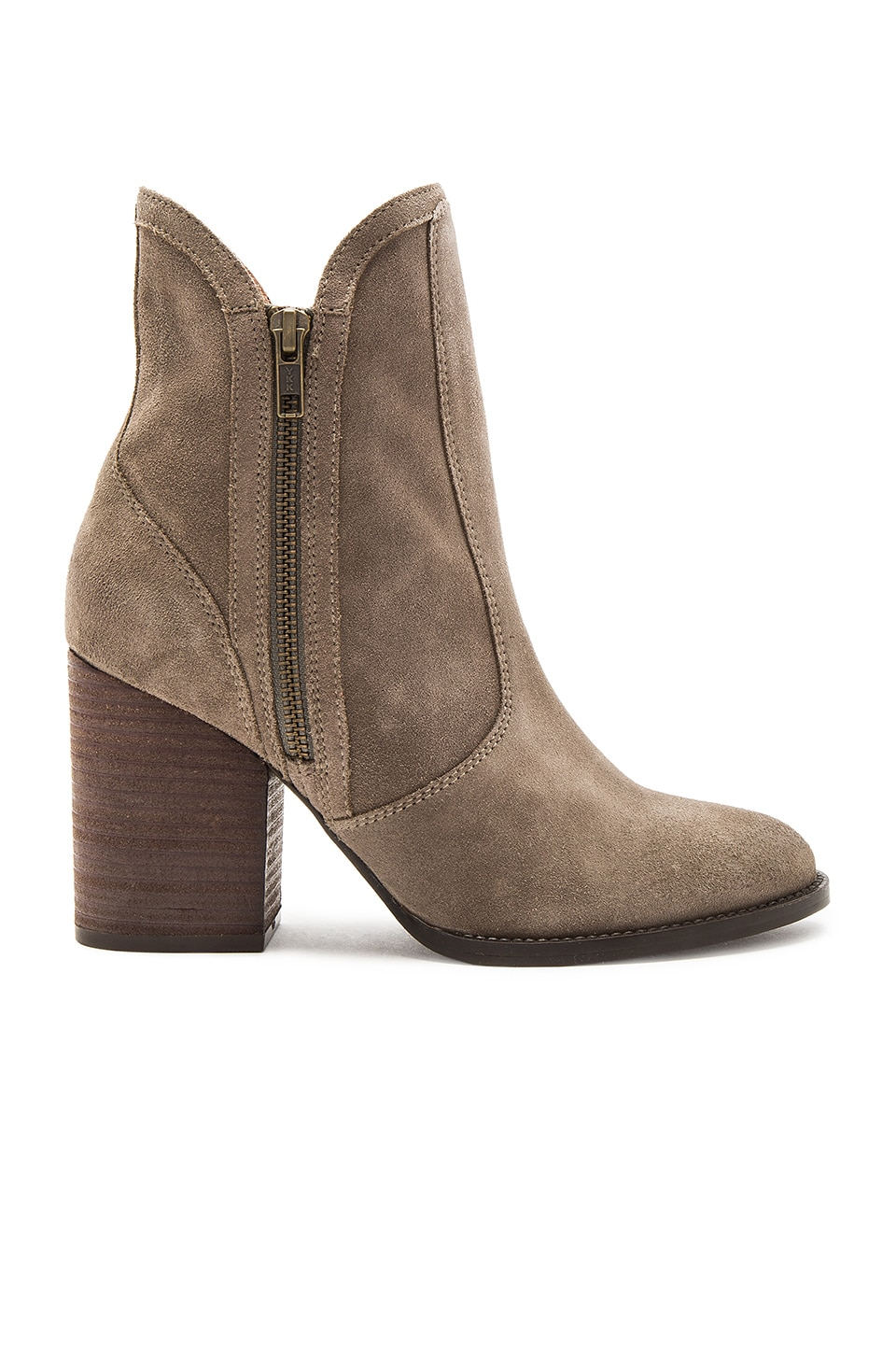 Seychelles Lori Penny Bootie Suede in Taupe