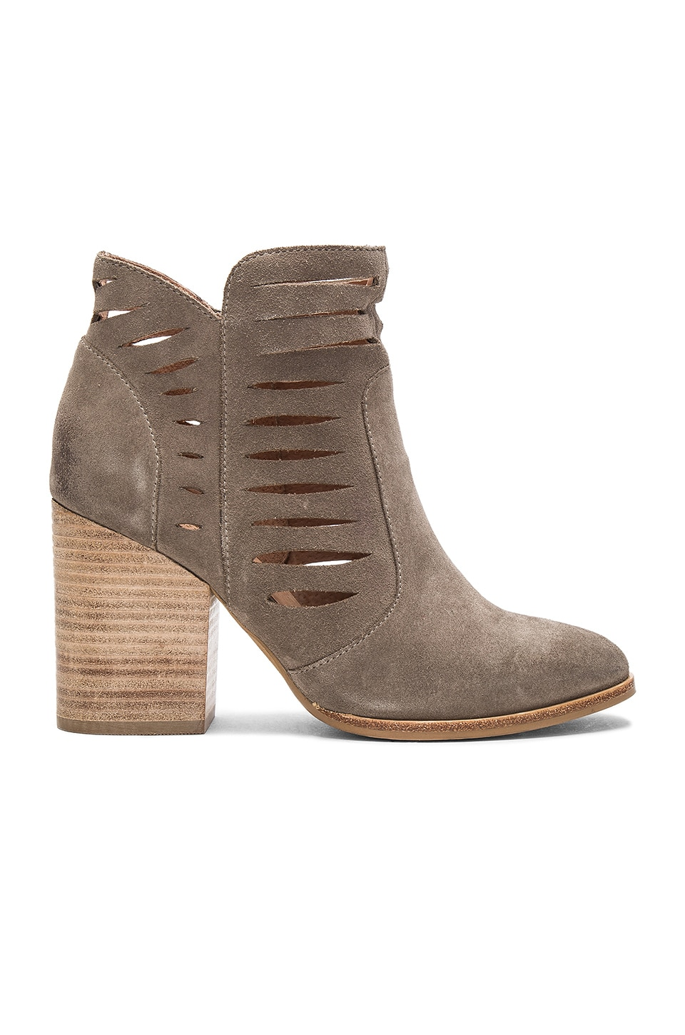 Seychelles Let's Go Crazy Booties in Taupe