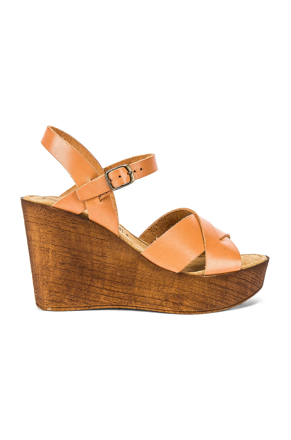 Seychelles Provision Wedge in Cognac Leather