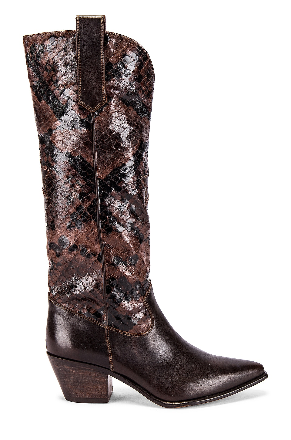Seychelles SEY Admirable Boot in Brown Leather & Python