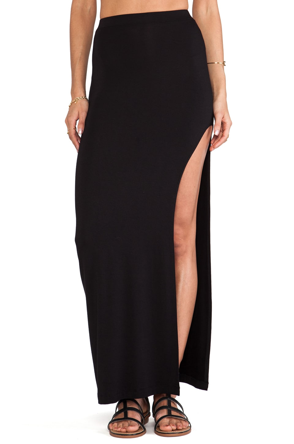 Stone Fox Swim Breeze Skirt in Onyx