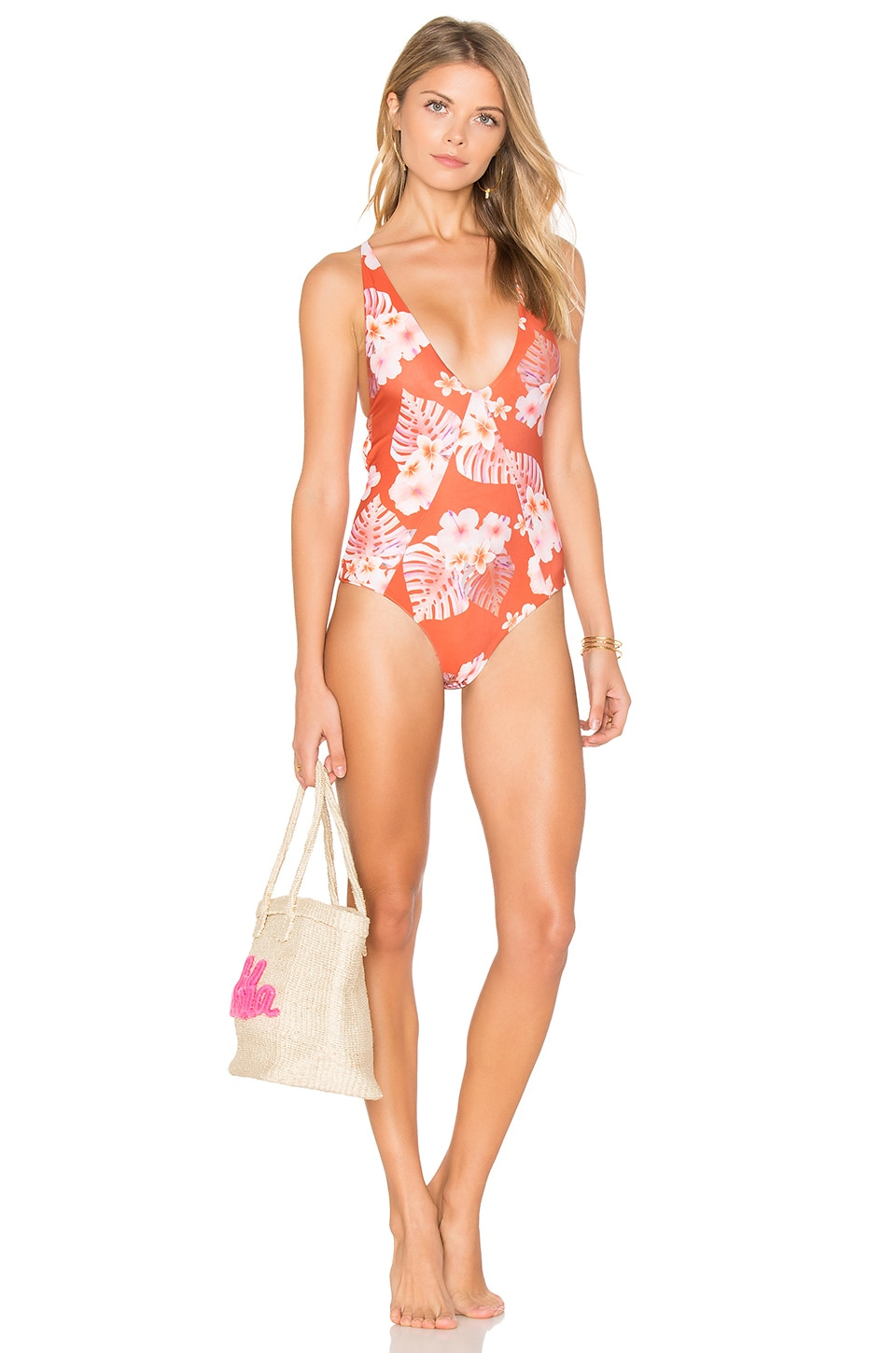 Stone Fox Swim Palma Once Piece Swimsuit in Ku'u Lei