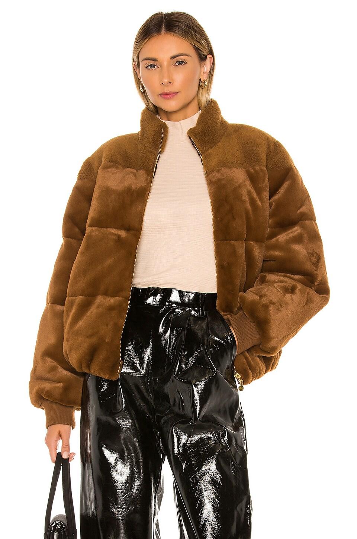 Stine Goya Aria Faux Fur Jacket in Golden Brown