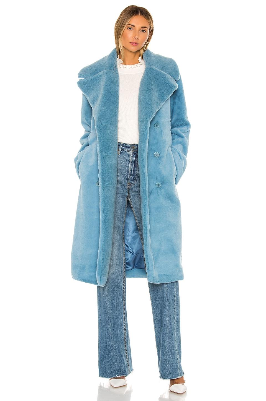 Stine Goya Happy Faux Fur Jacket in Teal