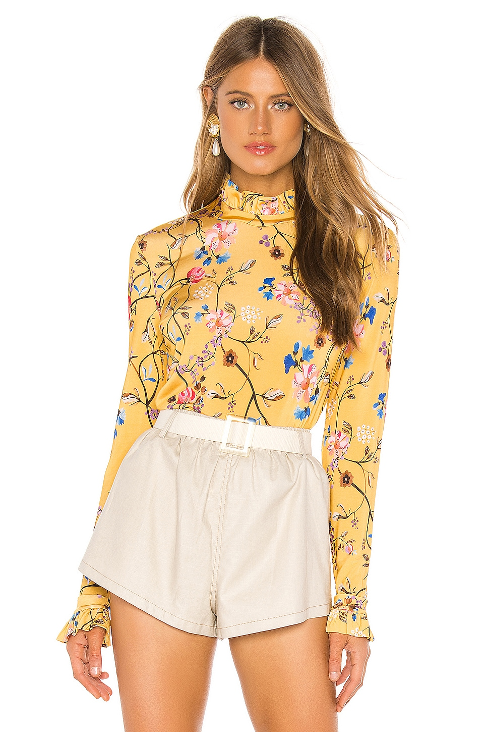 Stine Goya Manila Top in Floral Vines