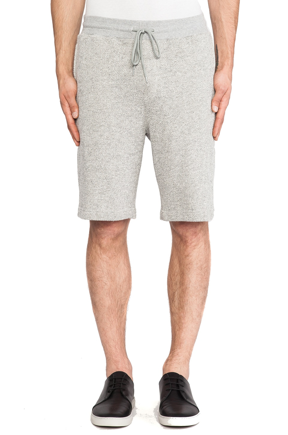 Shades of Grey by Micah Cohen Sweatshort in Light Heather Grey
