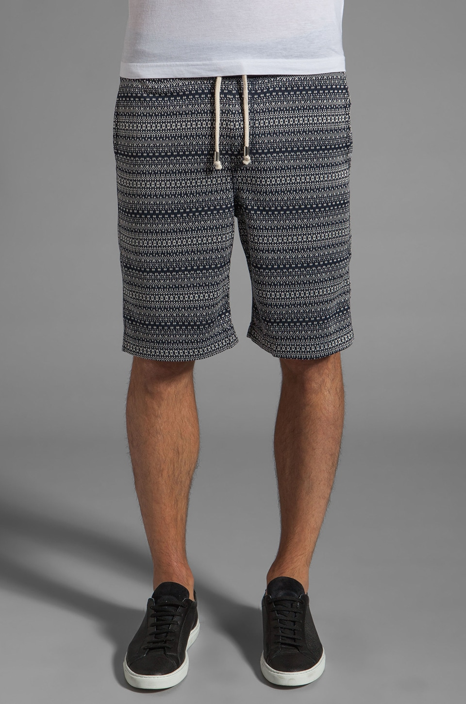 Shades of Grey by Micah Cohen Sweatshort in Navy Winter Knit