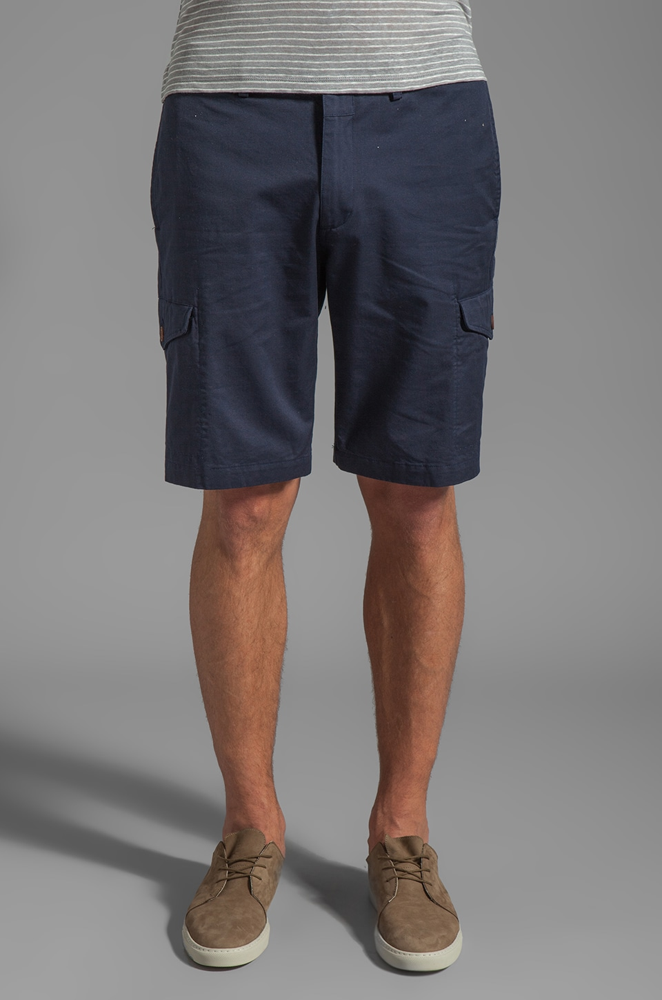 Shades of Grey by Micah Cohen Cargo Short in Navy Twill