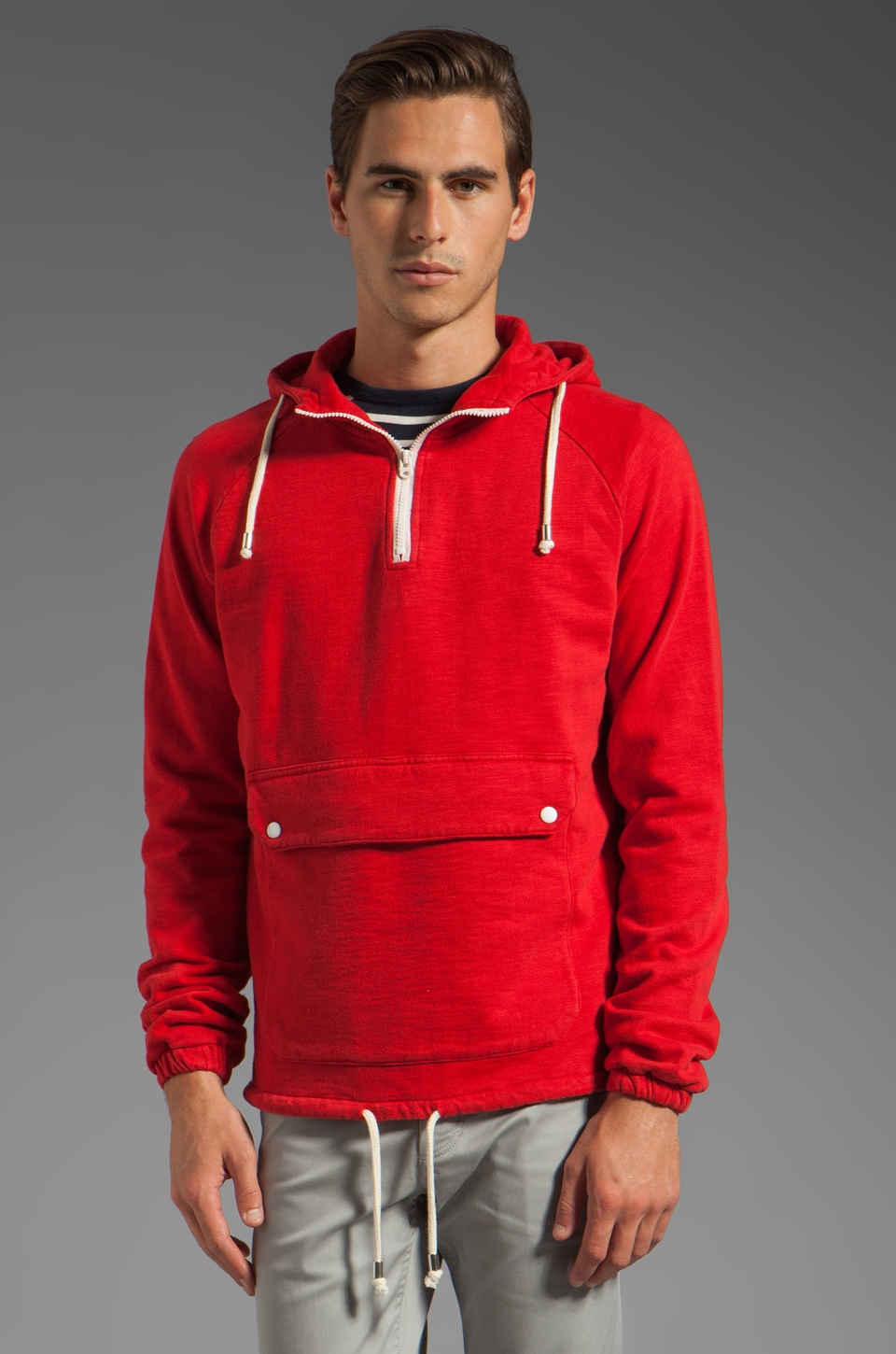 Shades of Grey by Micah Cohen Fleece Anorak in Red