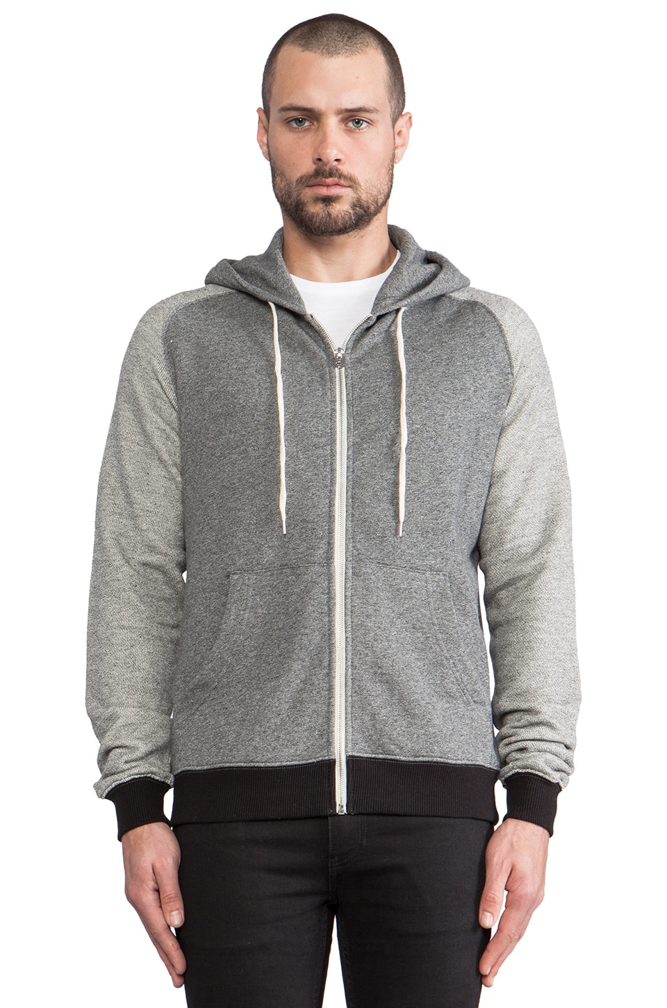 Shades of Grey by Micah Cohen Fleece Hoodie in Heather Graphite/Greyboard