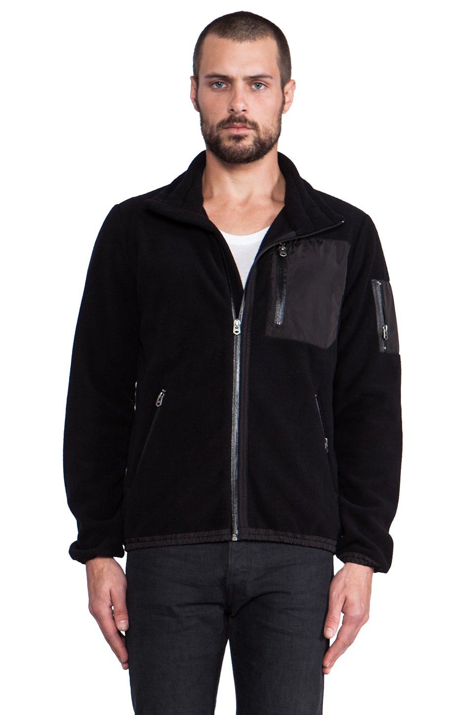 Shades of Grey by Micah Cohen Polar Fleece Jacket in Black