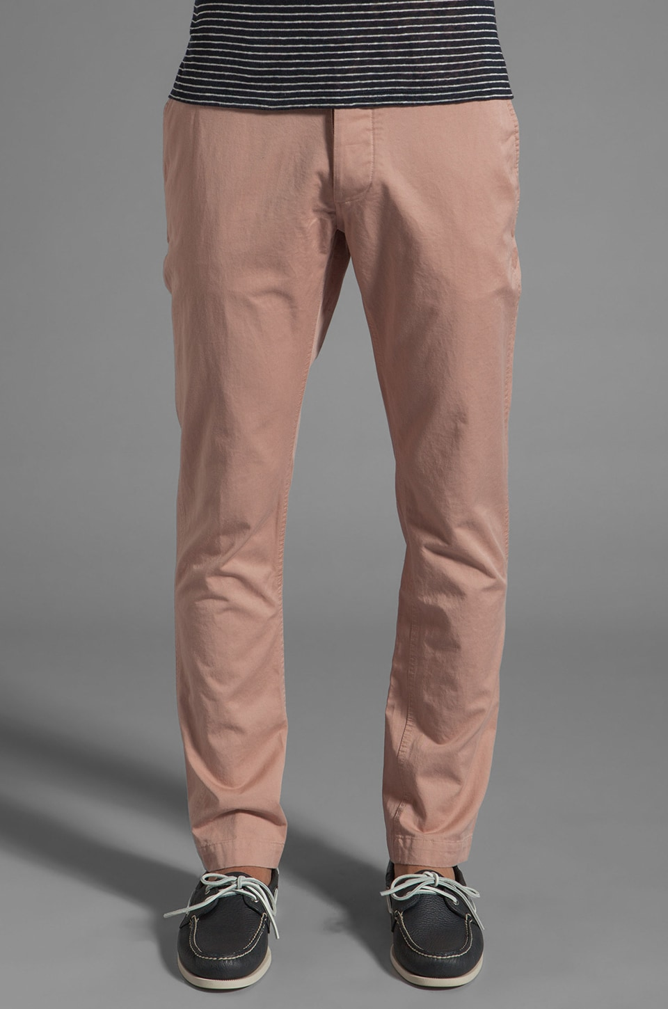 Shades of Grey by Micah Cohen Slim Fit Chino in Mauve Twill