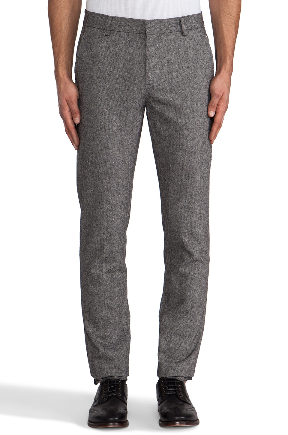 Shades of Grey by Micah Cohen Slim Fit Suit Pant in Grey Tweed