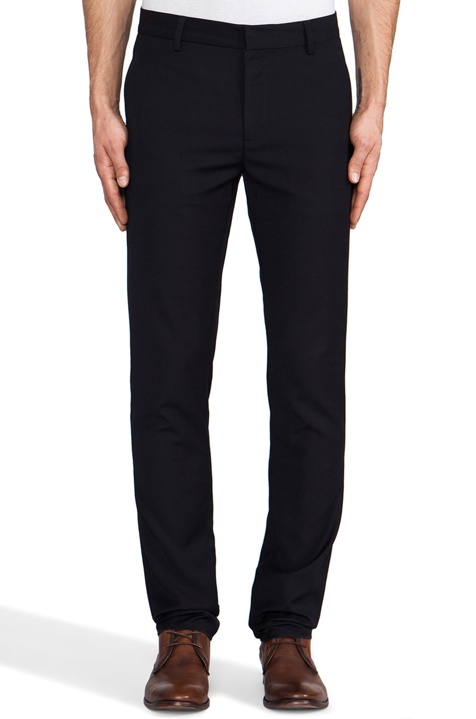 Shades of Grey by Micah Cohen Slim Fit Suit Pant in Navy Wool