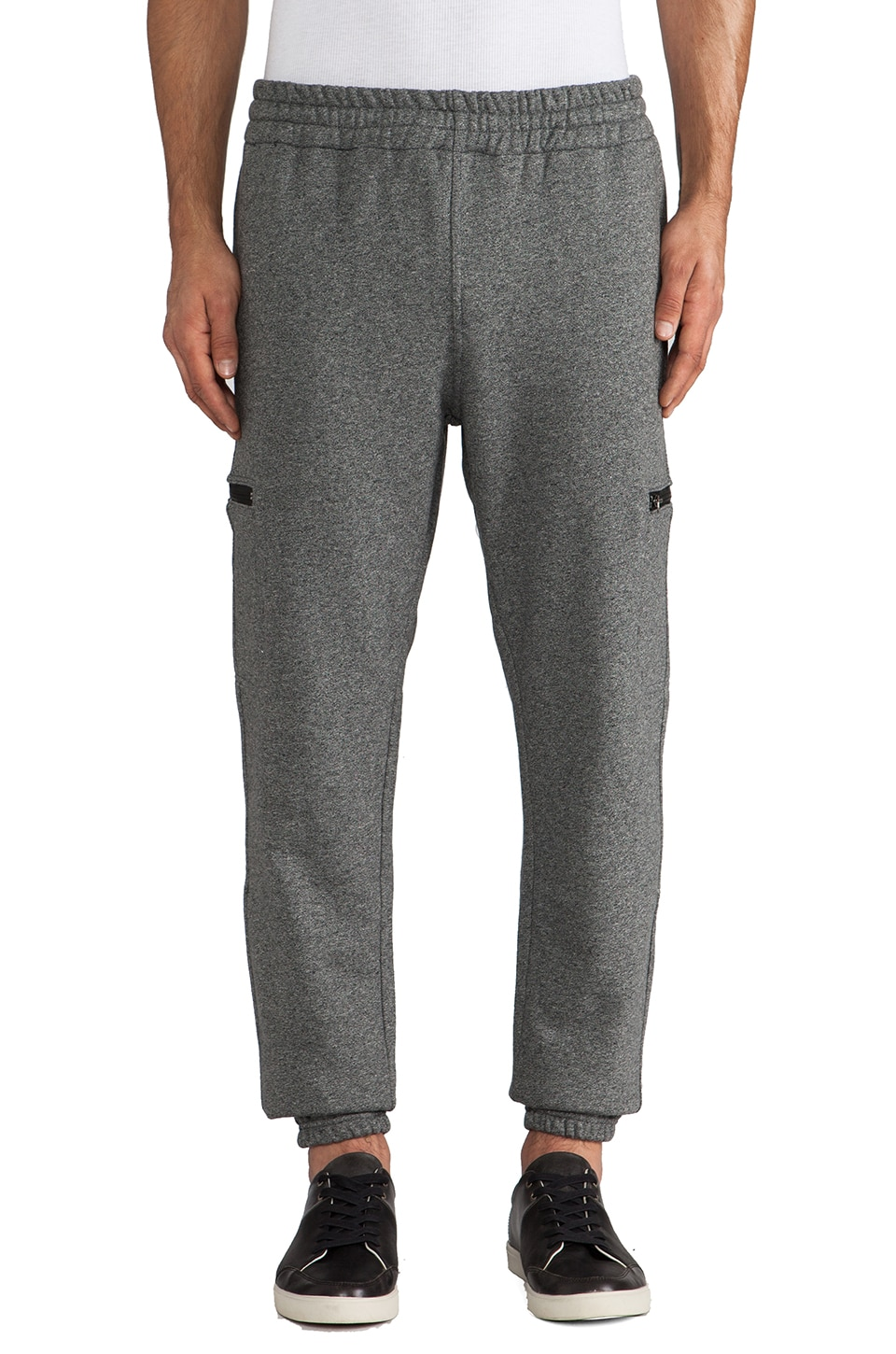 Shades of Grey by Micah Cohen Cargo Sweatpant en Gris Chiné