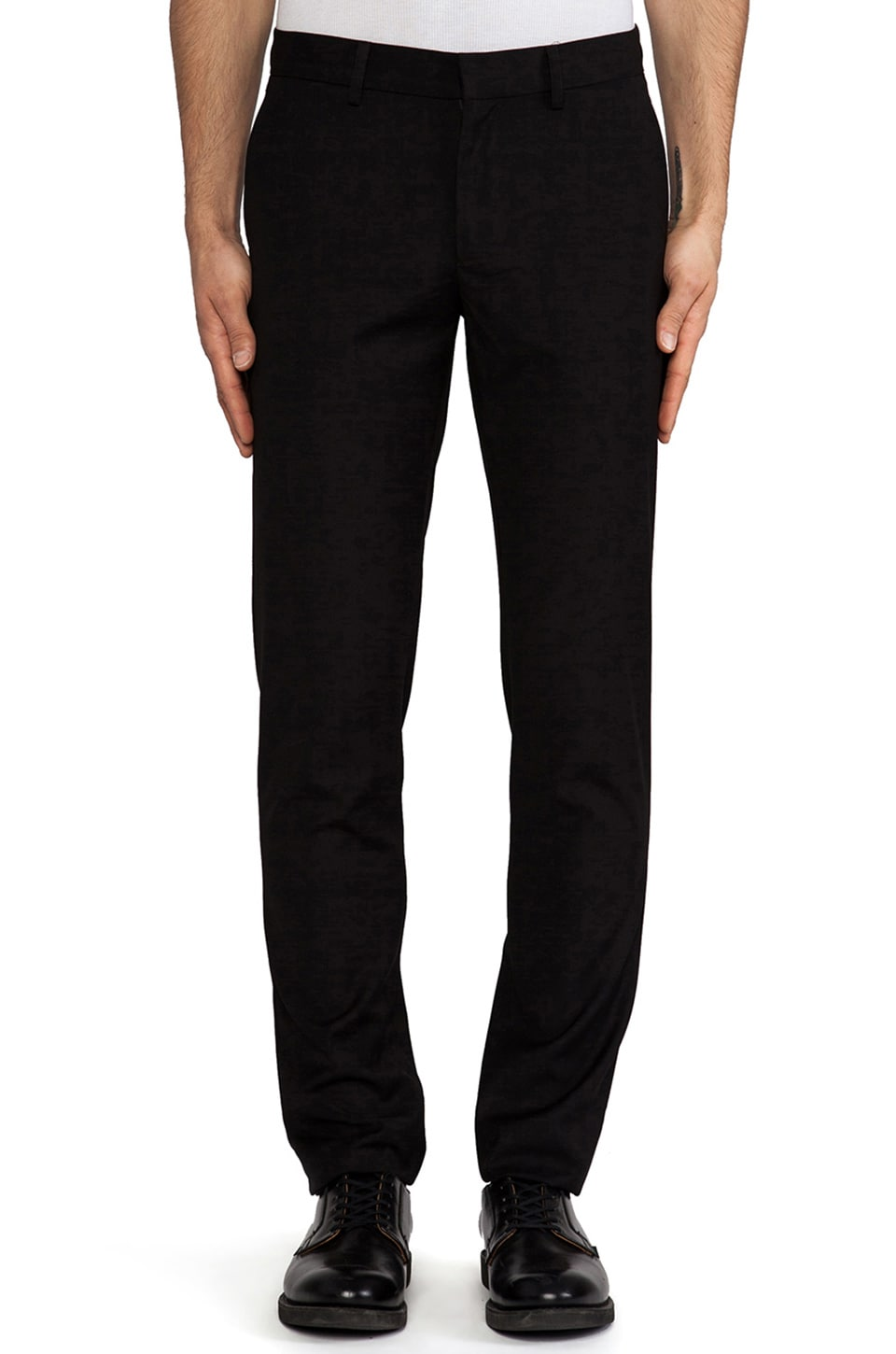 Shades of Grey by Micah Cohen Slim Fit Suit Pant in Black Wool